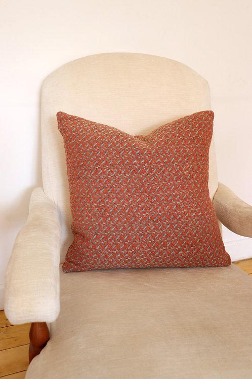 Burnt Orange & Oakleaf Cushion
