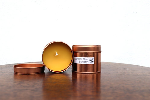 Rose Gold Tin Beeswax Candles