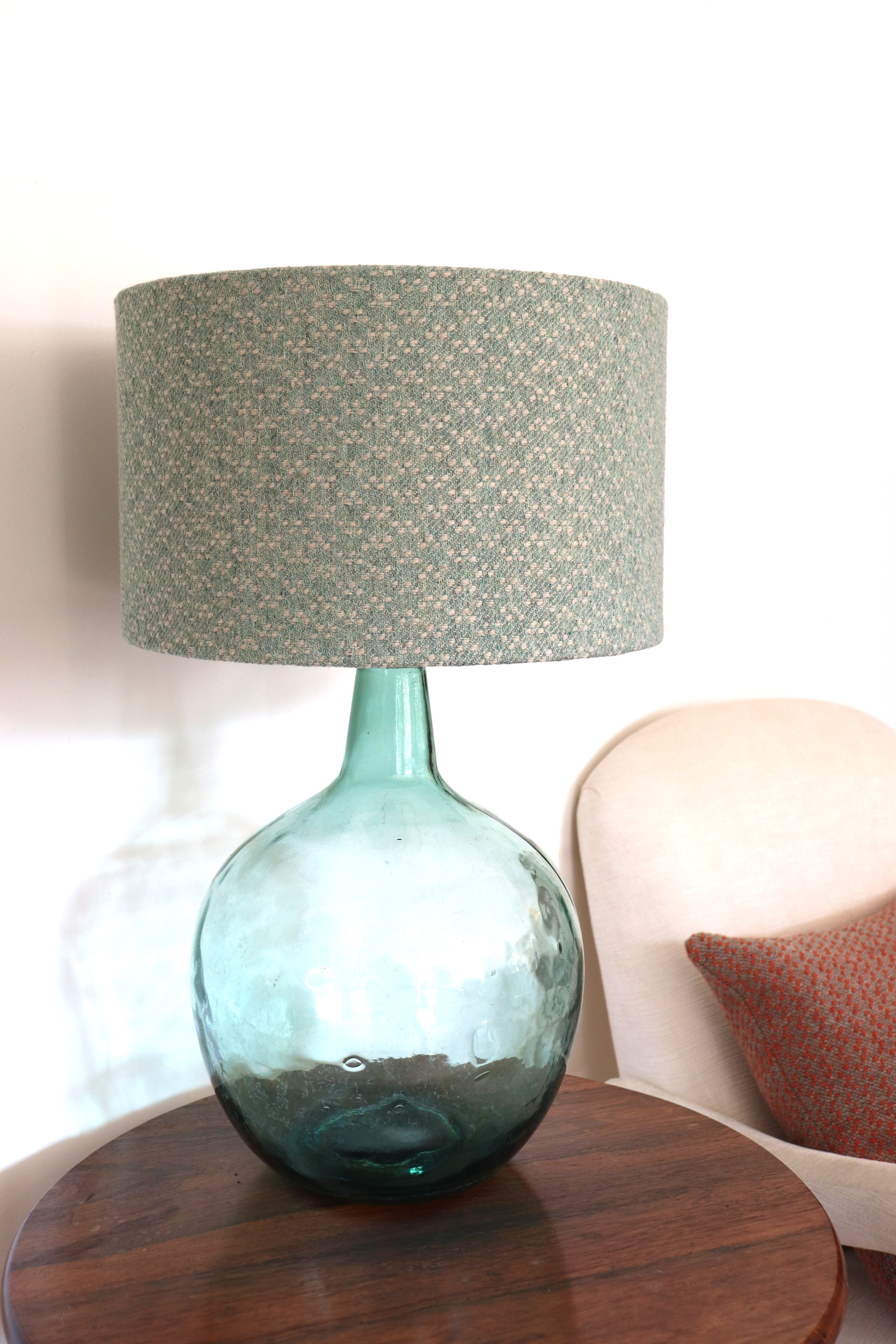 Handwoven lampshade