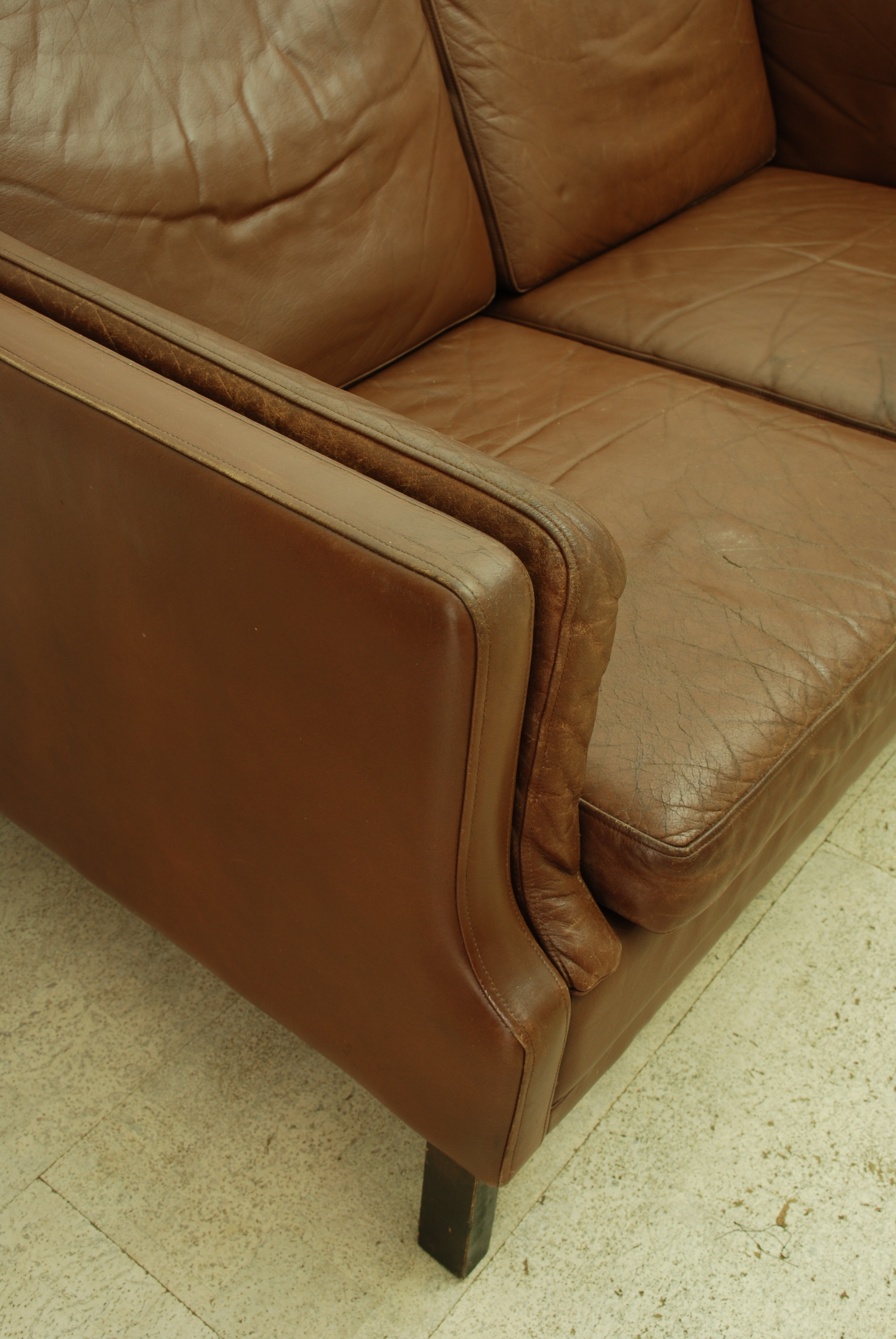 DARK BROWN DANISH SOFA