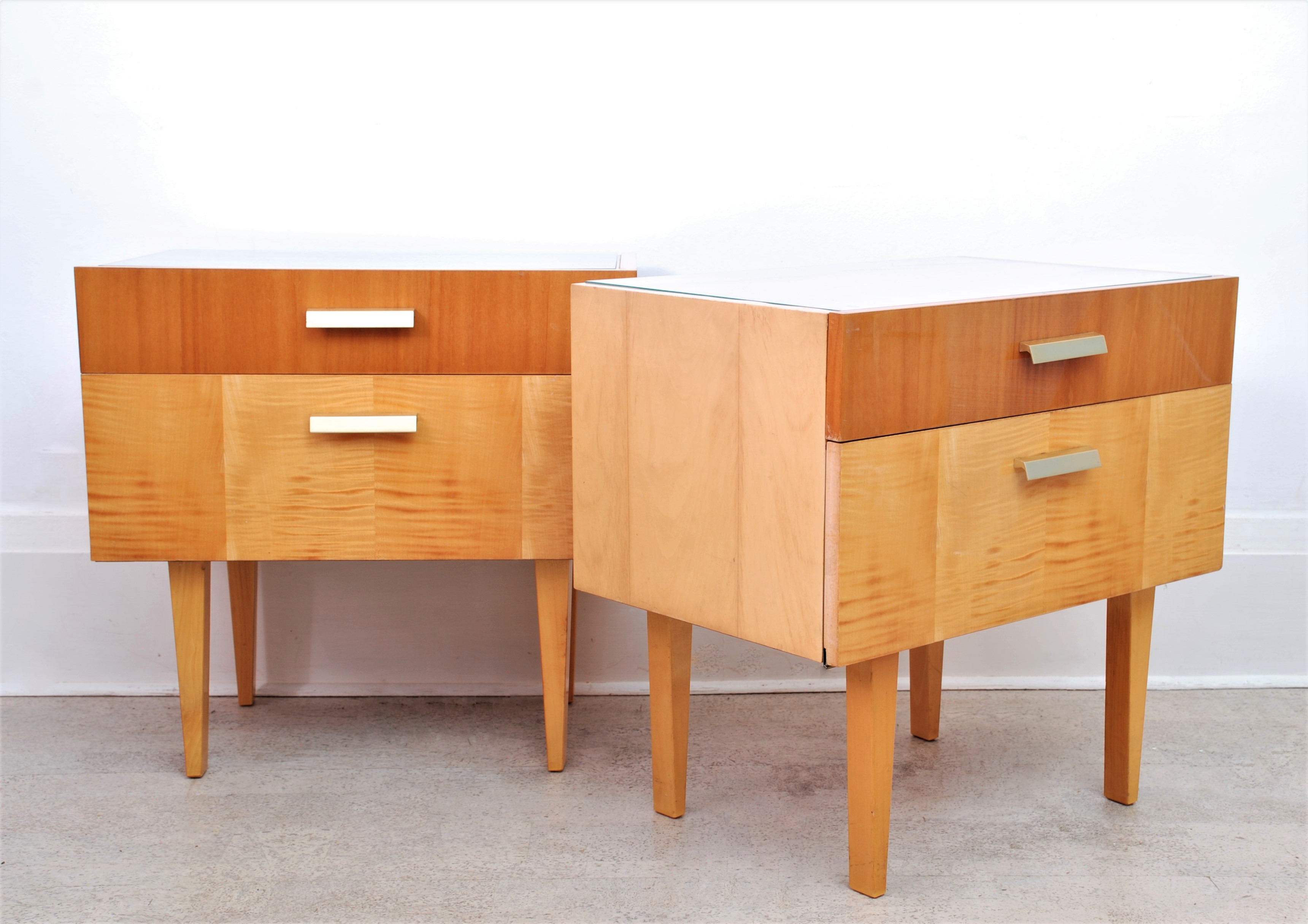 GERMAN MID CENTURY BEDSIDE TABLES