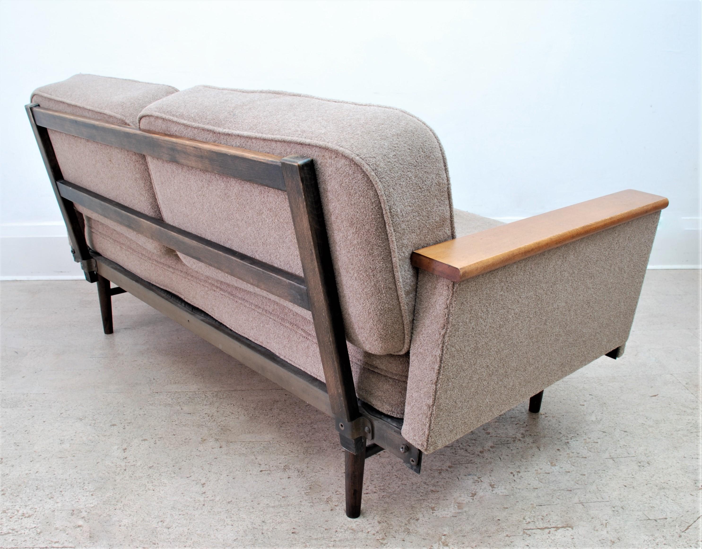 MID CENTURY SOFA BED