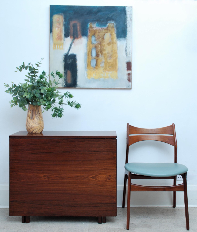 BENDT KLEPPES Rosewood Gate Leg Table