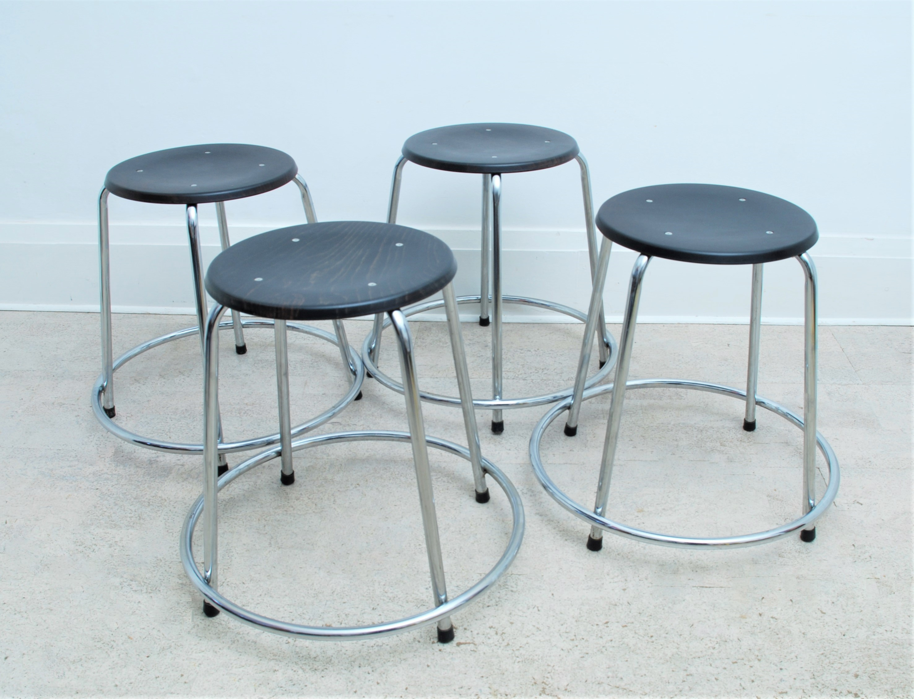 1970's SET OF 4 German Stools