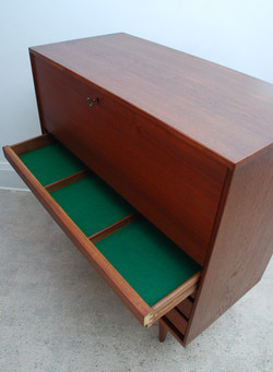 Drop down Door and Drawers Cabinet
