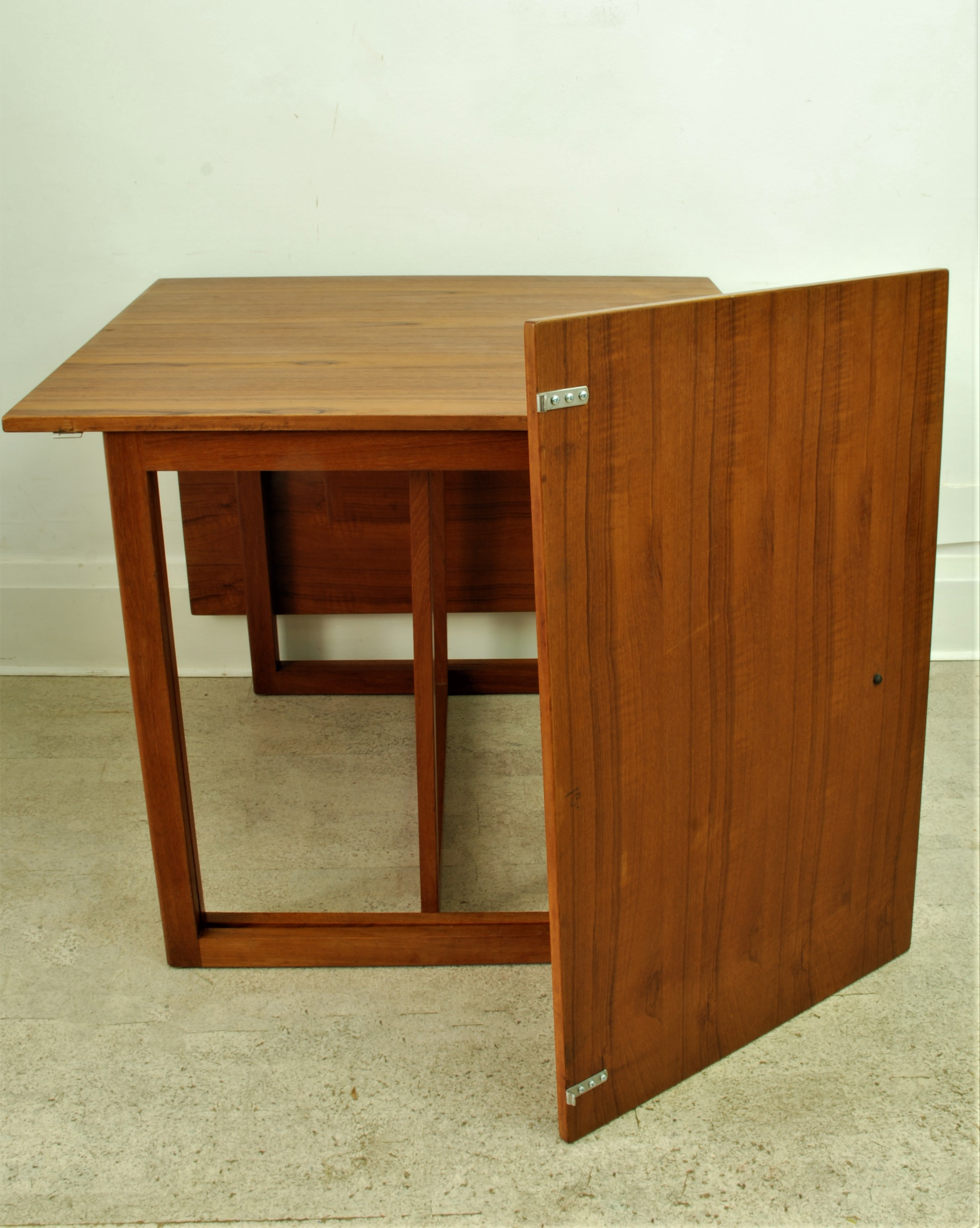G P Farum Danish dining table drop down