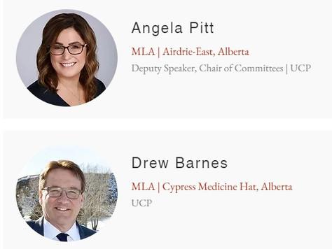 Press Release: Alberta MLAs Angela Pitt & Drew Barnes Join End the Lockdowns Caucus