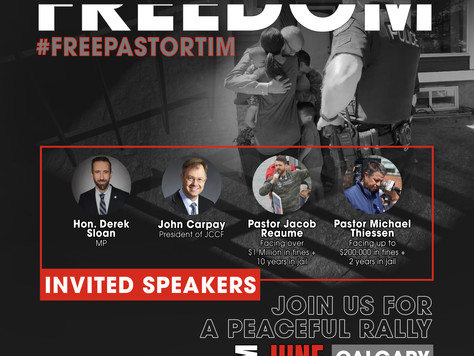 Join Us in Calgary -  Rally for Freedom - June 26th
