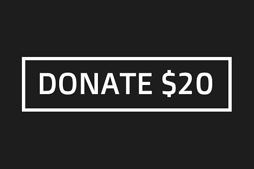 Donate $20