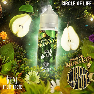 12 MONKEYS - CIRCLE OF LIFE - 50ML (60ML SHORTFILL)
