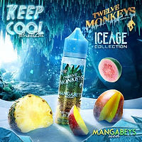 12 MONKEYS MANGABEYS ICED - 50ML (60ML SHORTFILL)
