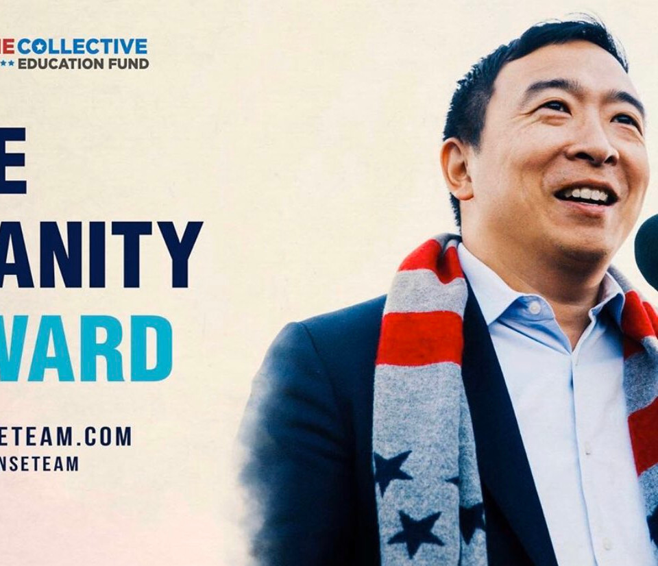 Three(i) helps Andrew Yang gives $1M for Covid-19 Relief