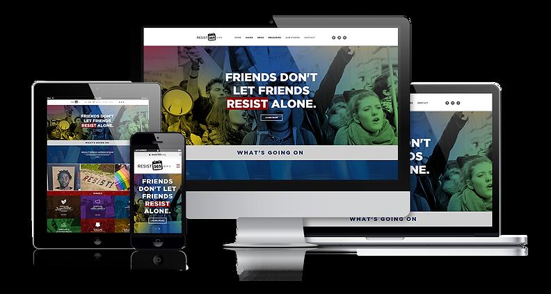 Resist 365 Website Design