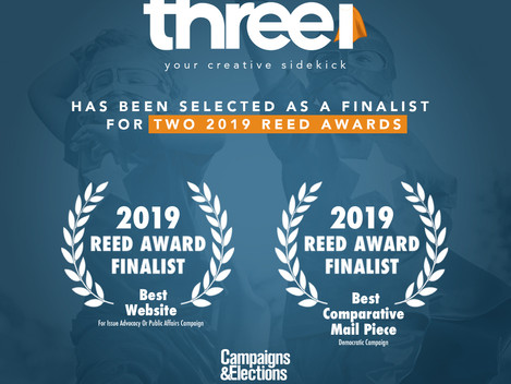 Three(i) Creative Communications Selected as Reed Award Finalist Again