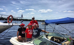 The American crew on Canada Day