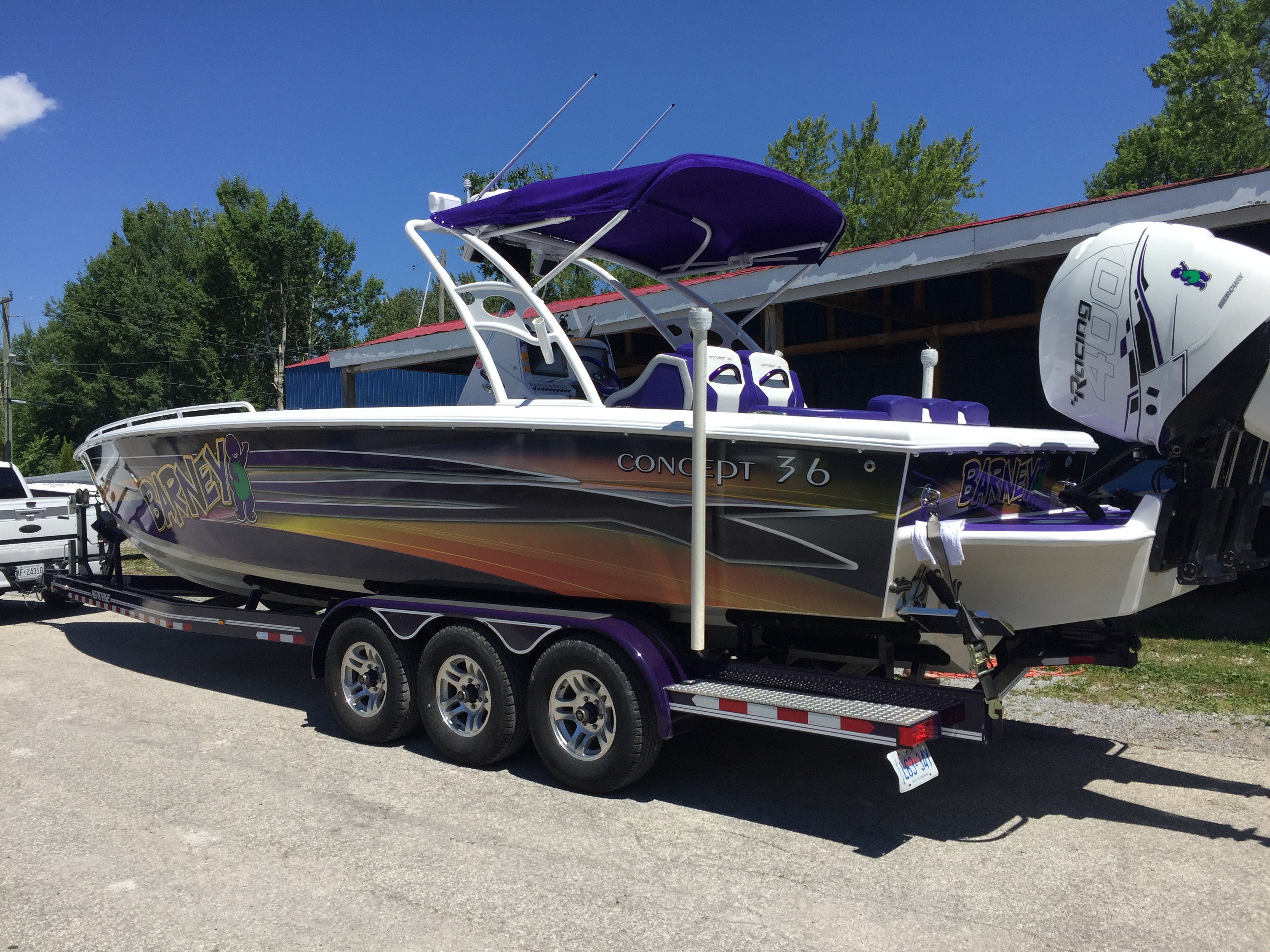 The Barney boat is back!