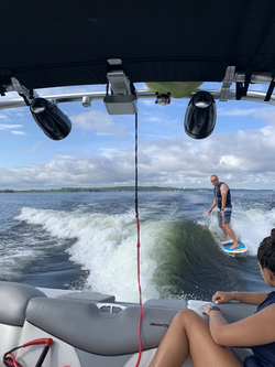 Check out wake-surf.ca for surfing lessons on Sturgeon Lake!