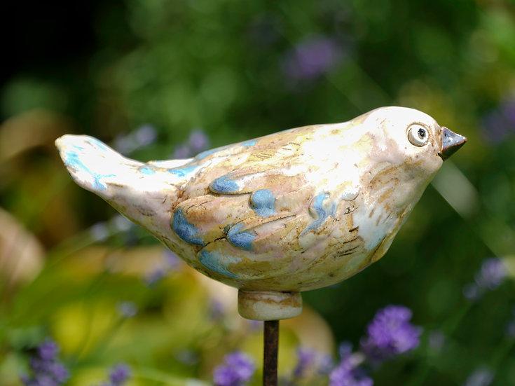 Keramik-Vogerl 'Blaufeder'