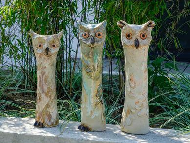 Eulen aus Keramik kaufen - Gartenkeramik