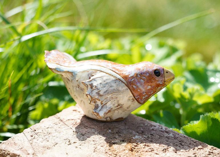 Keramik-Vogerl 'Gartenvogel Andi'