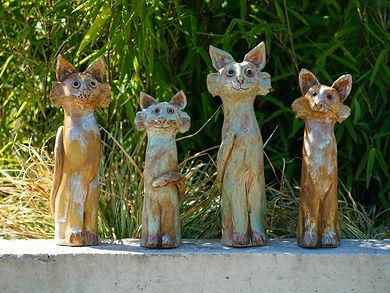 Katzen aus Keramik kaufen - Gartenkeramik in Österreich