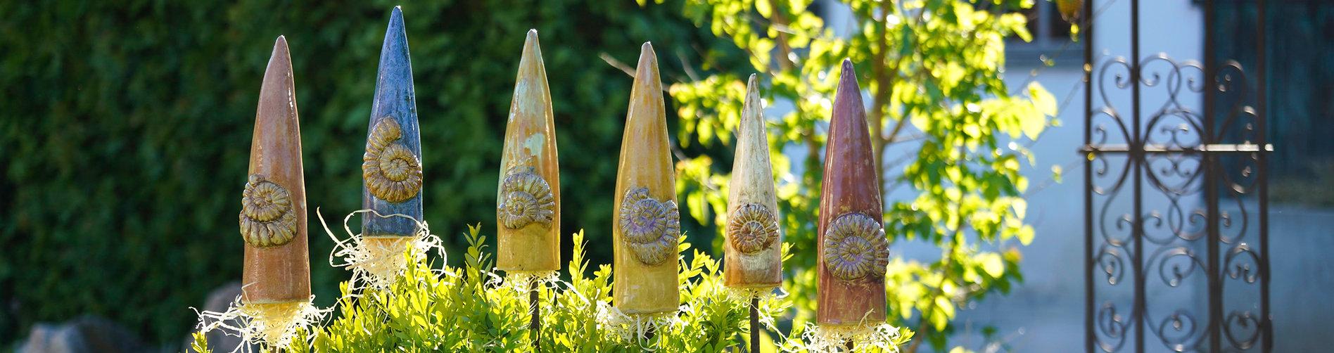 Gartenspitzen Keramik