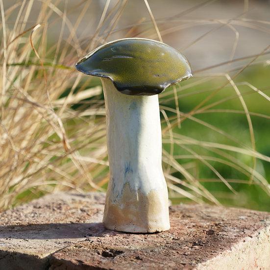 Keramik Schwammerl in moosgrün