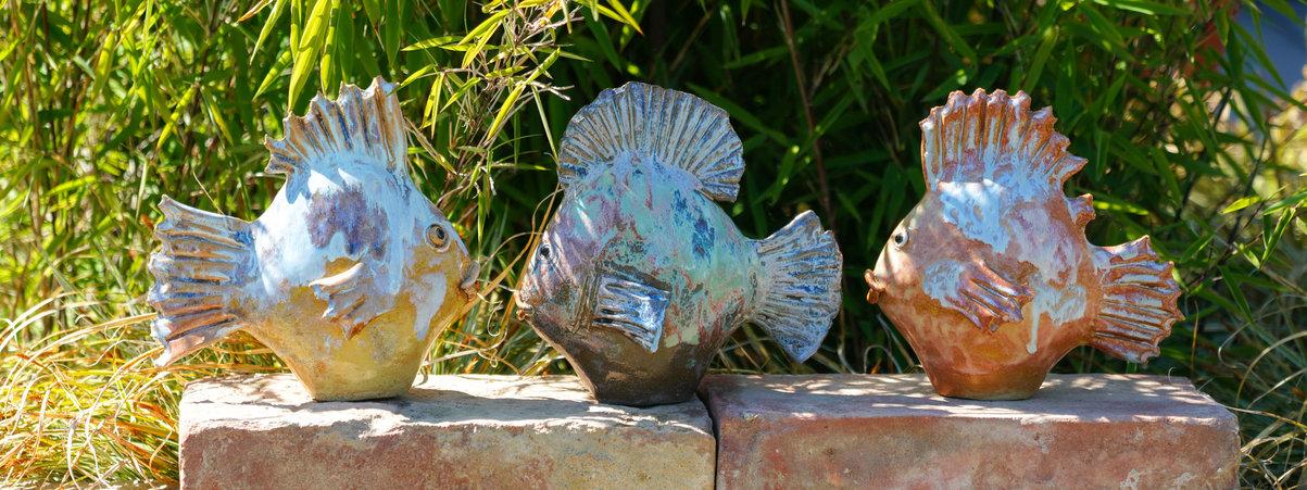Fisch Gartenkeramik für den Teich