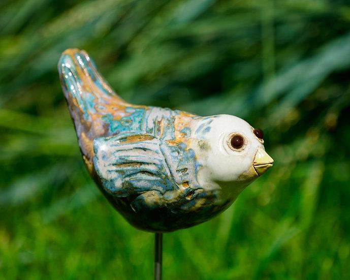 Keramik-Vogerl Weißkopf