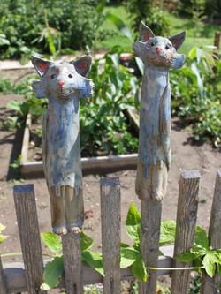 Keramik Katzenpaar