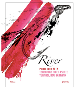 The new River Wine label designed by New Zealand illustrator Robyn Joan Wilson