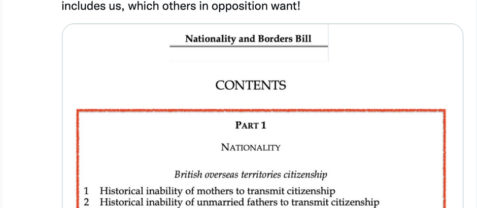 Opposition to Borders & Nationality Bill