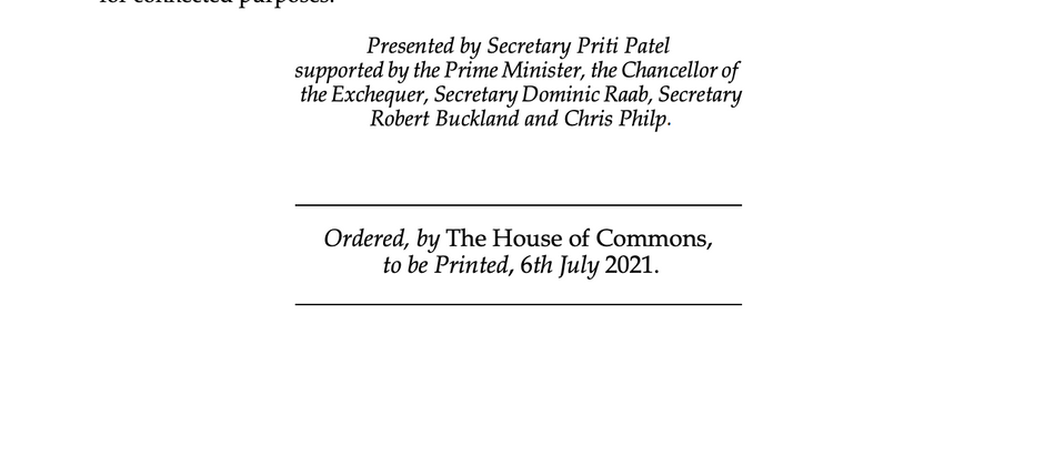 Important Update - The Nationality & Borders Bill has arrived in the UK Parliament.