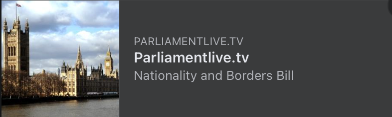 Nationality and Borders Bill - Scheduled Meetings & Parliament TV Links