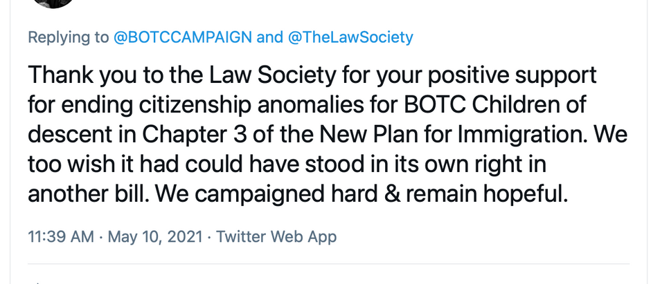Law Society - Thank you.