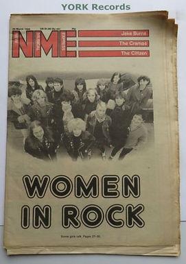 May 2018: NME Women in Rock, March 29, 1980