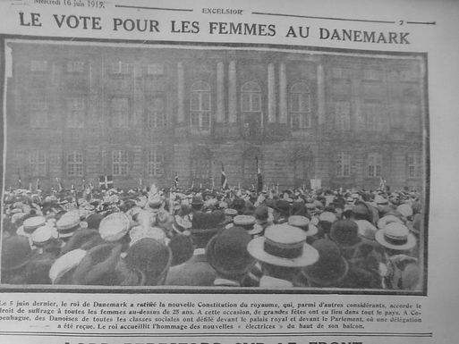 June 2019: Collection of French Language Newspapers 1890 - 1916 Chronicling Suffrage Movements from the USA to Russia, Denmark and the UK