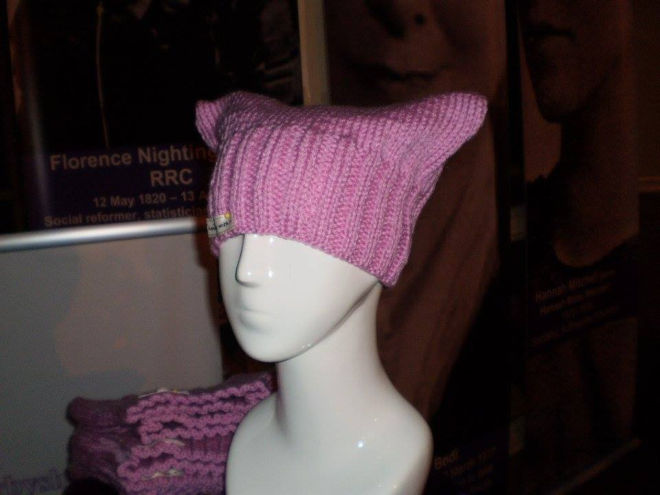 PussyCat Hat Part ofThe  Exhibit Knitted by Nancy Clements