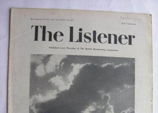 September 2019: THE LISTENER MAGAZINE, Published by the British Broadcasting Corporation (BBC), July 19th, 1945 - Vol XXXIV, No 862, articleThe Future of Domestic Service by Violet Markham