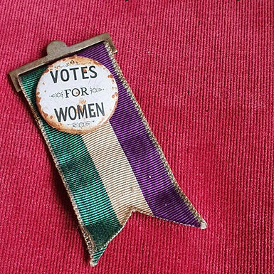 June 2020: 1900s Suffragette , Votes For Women Pin Badge.