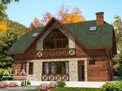 Дом с мансардой из кирпича