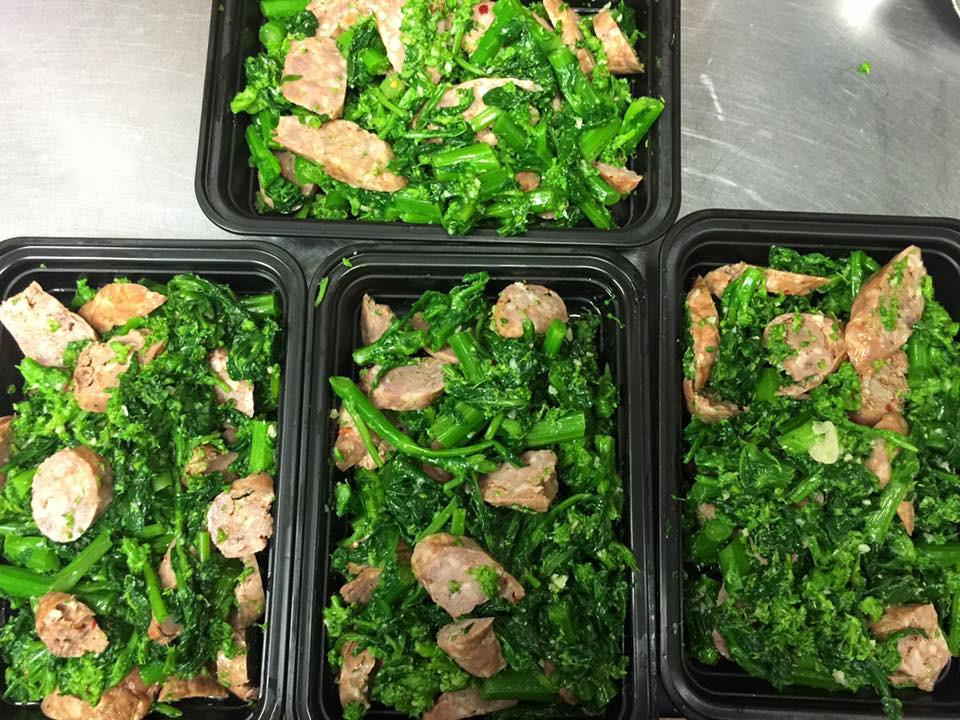 paleo broccoli rabe sausage fresh garlic