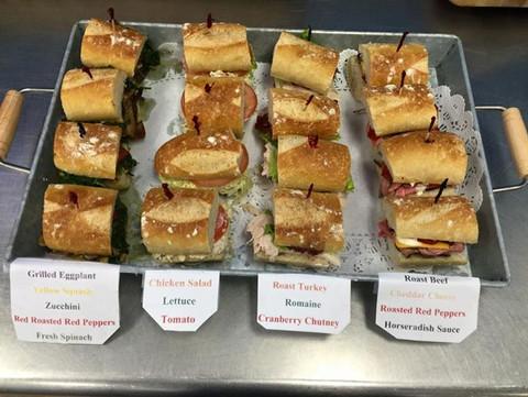 Mini baguette sandwiches for_Luncheon!!!