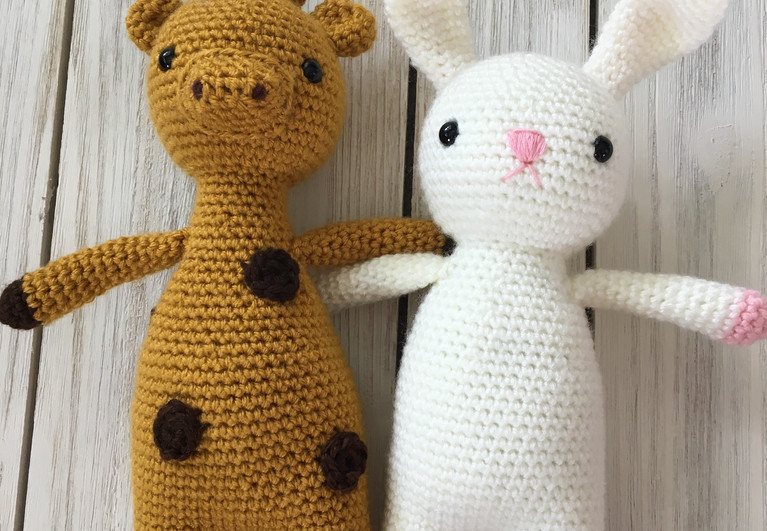 Gatsby the Giraffe and Beatrix the Bunny