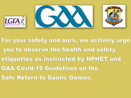 Safe Return to Play Gaelic Games