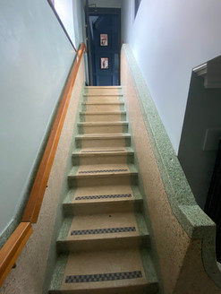 Original mosaic staircase retained