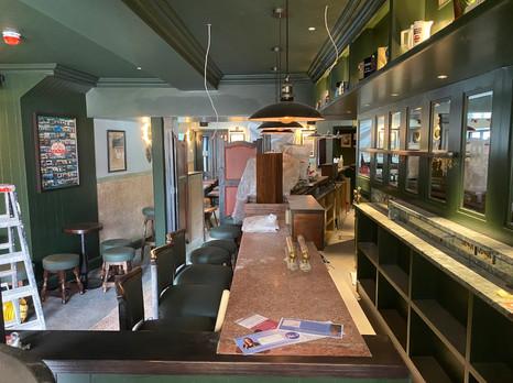 Original mosaic bar counter top retained