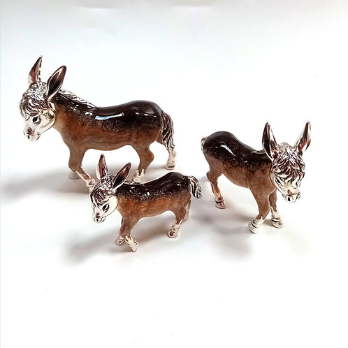 Sterling Silver Ornament - Donkey