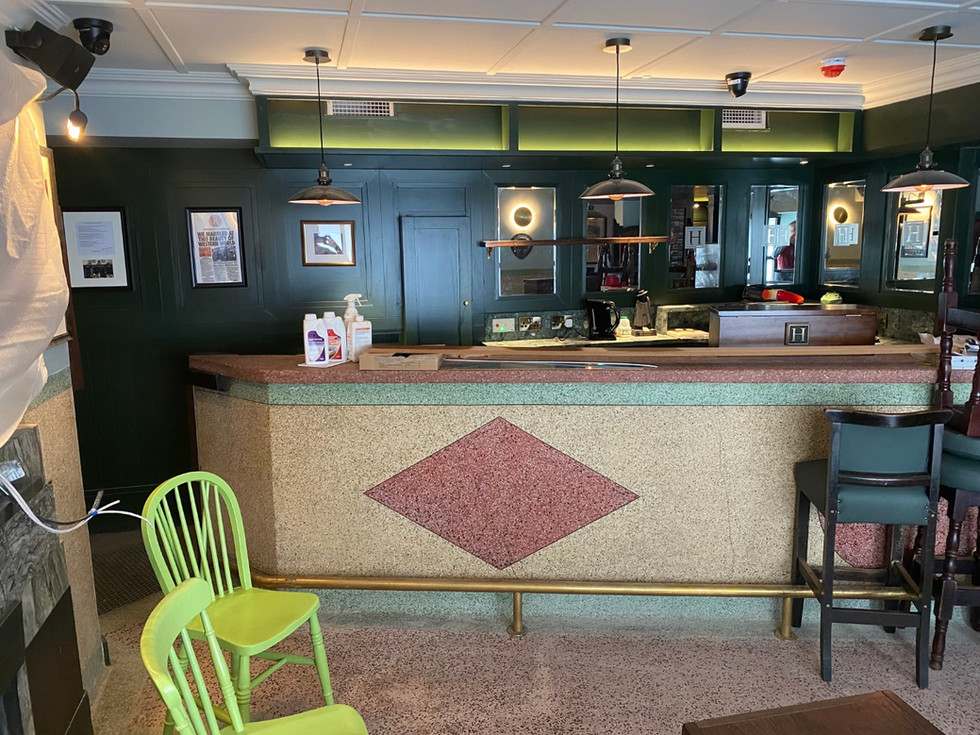 Original mosaic bar retained