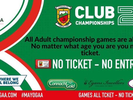 Important reminder about Saturday's Round 1 Junior Championship game v. Killala